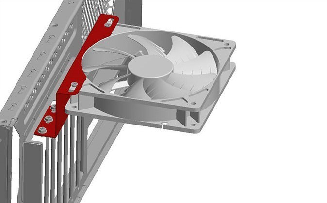 GPU Cooling PCI Slot Vertical Fan Mounting Kit Metal Bracket