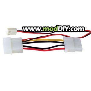 4-Pin Molex to 4-Pin Molex / 3-Pin Fan Adapter Cable