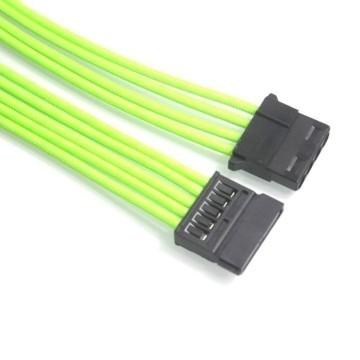 Premium Nvidia Green Single Sleeving Extension Cable (SATA/Molex)