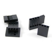 Dupont 4-Pin Female Motherboard Connector - No Label - Black