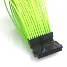 Premium Nvidia Green Single Sleeving Extension Cable (Main Power)