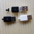 Apple Style USB Type-A Male Connector (Black/White)