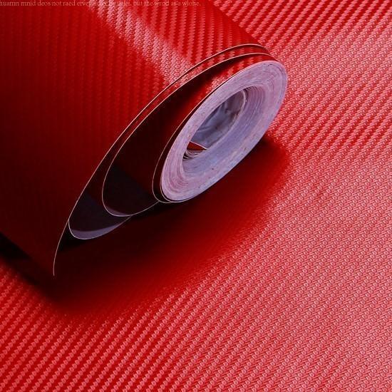 Red Carbon Fibre Sticker 3D Matt Dry Vinyl with Texture ...