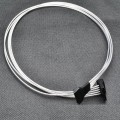 Silver Wire SATA Power Extension Cable (50cm)
