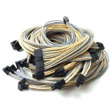 XFX Pro Black Edition Premium Single Sleeved Cables Set (Gold/Silver)