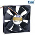 AVC 120mm x 25mm 4 Wire Ball Bearing Ultra Silent PWM Fan