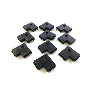 RGBW LED Light Strip 5 Pin L Shape 90 Degree Angle Female Connector