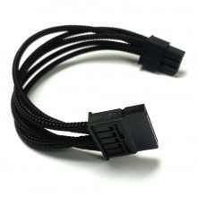 6-Pin Modular Power Supply Sleeved Cable to SATA Connector