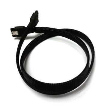 SAS/SSD High-Speed 6Gbps SATA3 SATA III Cable High Density Sleeved (Black)