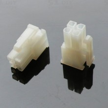 4-Pin Motherboard Power Female Connector - Transparent White