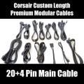 Corsair Custom Length Premium Black Ribbon Modular Cable (20+4 Pin Main)