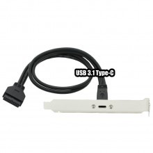 USB 3.1 Internal 20-Pin to USB Type-C Port for PCI Slot (50cm)