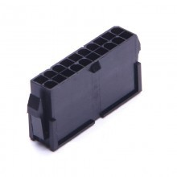 modDIY ATX 20 Pin Male Connector Housing (Black)