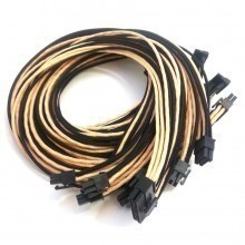 Corsair RM Series Individually Sleeved Modular Cable Set (Black/Gold)