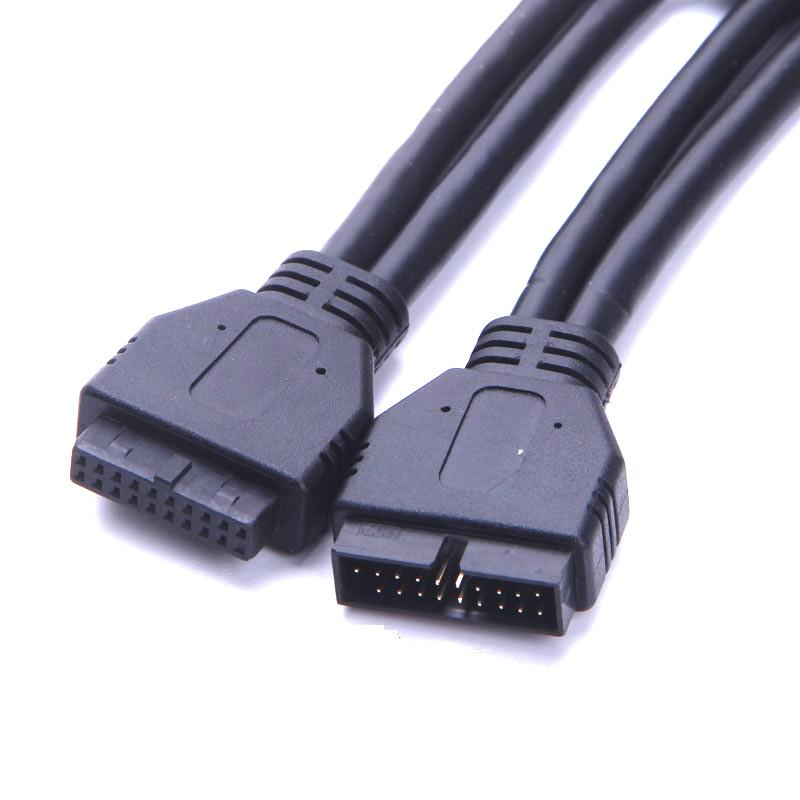 USB 3.0 20-Pin Male to Female Internal Extension Cable (60cm ...
