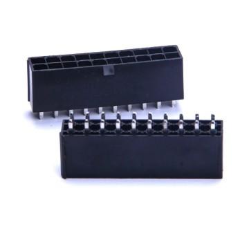 20-Pin PSU Modular Male Header Connector - Straight - Black