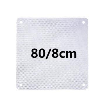 White PVC Ultra Thin 0.45mm Computer Case Fan Dust Filter 8cm