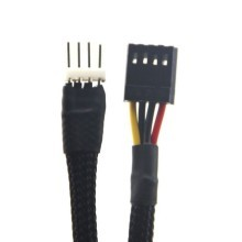 Floppy Drive FDD 4-Pin Power Sleeved Extension Cable (50cm)