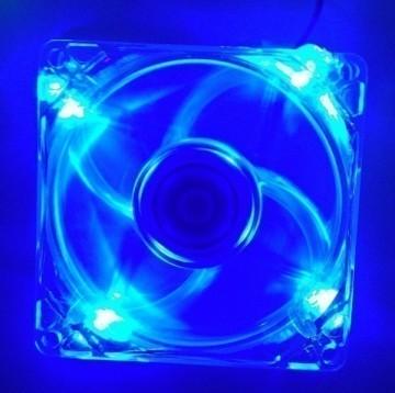 Ultra Silent Blue LED 120mm Fan (1400RPM 18dBA 43CFM)