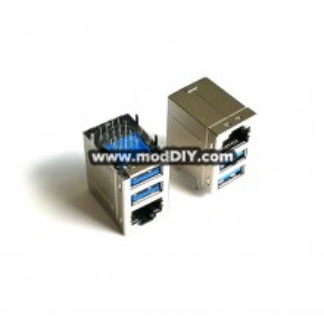 Dual USB 3.0 with RJ45 Plug Socket Combo PCB Panel Mount or Wall Type