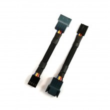 HP ML350 5 Pin CPU Fan to 4 Pin Standard PWM Fan Adapter Sleeved Cable