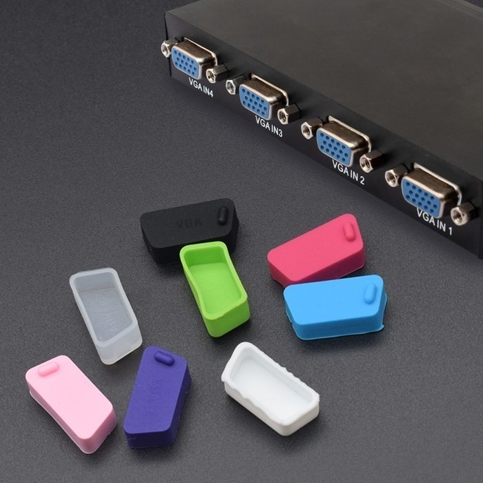 VGA Port Silicone Rubber Dust Cover