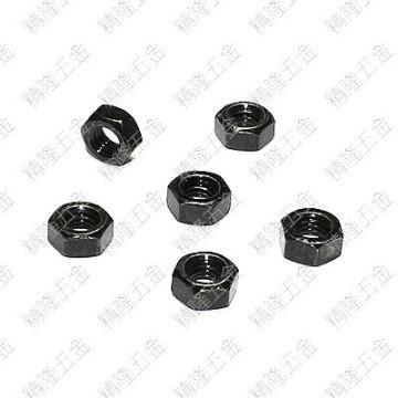 M6 Hex Lock Nut - Black Carbon Steel