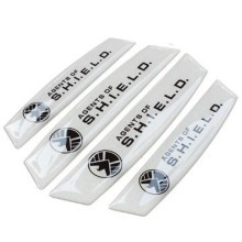 Car Door Edge Guards Anti-collision Scratch Protection Strip Bumpers (Agents of SHIELD White)