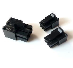 6-Pin Molex Mini-Fit Jr PCIe Female Connector - Black