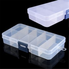 10 Compartment Transparent Plastic Parts Box