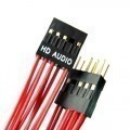 Premium Red Wire HD Audio 10-Pin Internal Header Extension Cable (50cm)