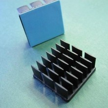 25mm Square x 10mm High Alpha Heat Sink - 17.8 °C/W