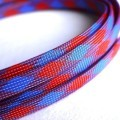Deluxe High Density Weave Blue/Red Cable Sleeve (10mm)