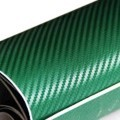 Green Carbon Fibre Sticker 3D Matt Dry Vinyl with Texture