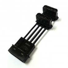 4-Pin Molex to 90 Degree 2 x 4-Pin Molex Power Adapter