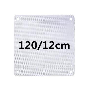 White PVC Ultra Thin 0.45mm Computer Case Fan Dust Filter 12cm
