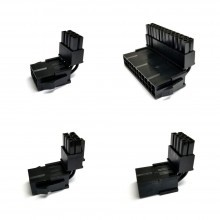 Premium 90-Degree ATX/EPS/PCIE Angle Connector Adapters in All Black with 4 Types