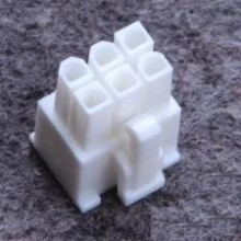 6-Pin PSU Modular Power Female Connector w/ Pins - White