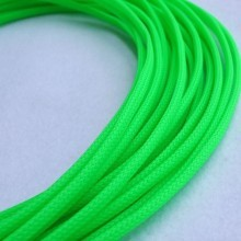 Deluxe High Density Weave UV Green Cable Sleeve (4mm)