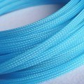 Deluxe High Density Weave UV Light Blue Cable Sleeve (8mm)