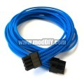 Seasonic Platinum 520 Fanless Single Braid Sleeved CPU/EPS Modular Cable (UV Blue)