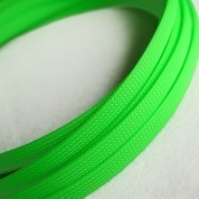 Deluxe High Density Weave UV Green Cable Sleeve (12mm)