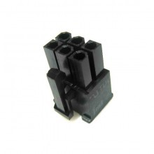 6-Pin PCI-Express Power Female Connector w/ Pins - Black