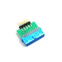 USB 3.0 20-Pin Female to USB 2.0 10-Pin Make Internal Header Converter