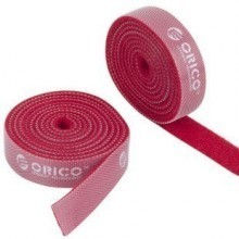 Orico Pro Velcro Cable Tie Roll - 1.5cm x 100cm (Red)