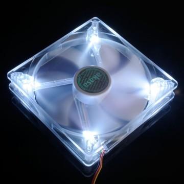 Akasa High Quality 14cm 1200RPM White LED Fan