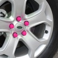 High Quality Silicone Car Wheel Hex Nuts Hub Screw Dust Covers (Pink)