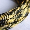 Deluxe High Density Weave Black/Yellow Cable Sleeve (8mm)