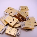 Gold Plated USB Type-A 4-Pin Male Connector