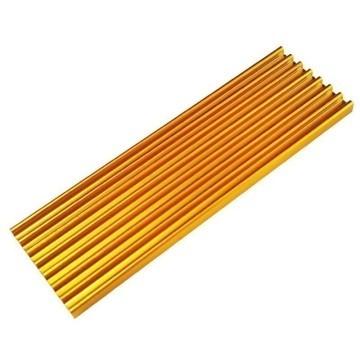 Premium SM951 SM961 950PRO XP9410 M.2 SSD Cooling Heatsink (Gold)